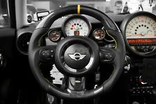 Mini CooperS R56 R61 JCW Sport Steering Wheel Carbon Fiber Yellow Strip