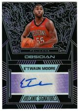 E'Twaun Moore 2019-20 Obsidian Volcanic Electric Etch Purple Autograph Auto /75