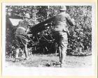 1939 Belgian Soldiers Camouflage Artillery Gun Belgium 7x9 Original Press