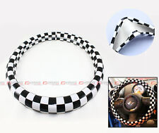 2002-2014 MINI COOPER S R56 R57 R58 JCW CHECKERED FLAG STEERING WHEEL COVER