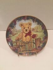 """Teddy's First Harvest 8"""" Franklin Mint Heirloom Recommendation Collector Plate"""