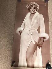 Vintage Marilyn Monroe Poster Dressing Gown Sepia