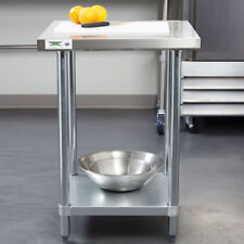 24 X 24 Stainless Steel Commercial Kitchen Restaurant Work Prep Shelf Table