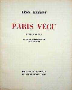 🌓 LÉON DAUDET Paris vécu rive gauche illustré par P.-J. Poitevin Capitole 1930