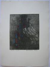 Hermann Ober (1920-1997) Abstrakte Komposition 18/50 Orig Radierg 1983 signiert