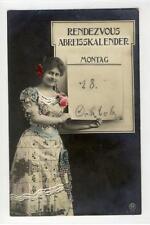 AK Gruß-AK, Rendezvous Abreisskalender, 1909 Foto-AK