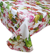 Tovaglia copritavola stampato per 6 rettangolare fiori cotone orchidea