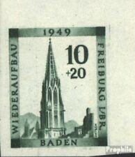 Franz. Zone-Baden 39B postfrisch 1949 Freiburg