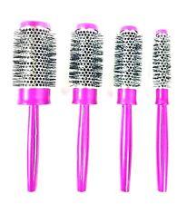 Denman METALLIX Pink Hot Curl Brush Set 4xBrushes