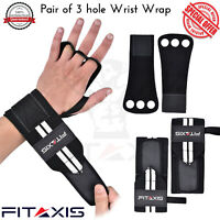 """Crossfit Gloves Hand Grip wrist wraps 2 in 1 leather palm protector WOD size 18"""""""