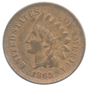 1865 Indian Head Cent Choice Extra Fine XF+ Condition Coin