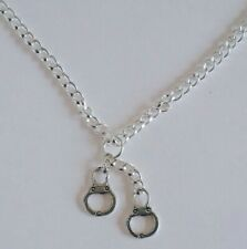 Linked Hand Cuffs Necklace