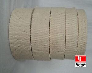 Canvas Natural 100% Cotton Webbing Belt Fabric Strap Bag Making Beige color