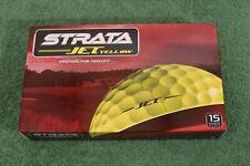 New in Boxes Strata Jet Yellow 12 Boxes (15 Balls per box/180 total) Golf Balls