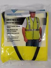 West Chester Protective Gear Surveyor's Reflective Vest Fits Most Sizes, New