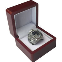 2012 LA Kings QUICK NHL Stanley Cup SP Brass Championship Ring & Wood Box