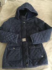 Girls JASPER CONRAN Jacket Navy Hooded Age 11-12 Yrs