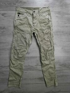 G STAR HERREN HOSE JEANS CARGO W31 L32 - 5620 3D STRAIGHT TAPERED MILITARY ARMY