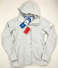Adidas Slub Stripe Recco G88891 White Snowboarding Jacket Womens Size Medium