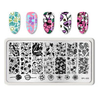 BORN PRETTY Nail Stamping Plate Nail Art Stamp Stencil Tulip Rose Design BP-L029