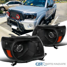 For 05-11 Toyota Tacoma Replacement Black Projector Headlights Head Lamps Pair