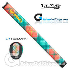 TourMARK Loudmouth Just Peachy Midsize Pistol Putter Grip - Peach / Green + Tape