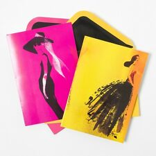 Papyrus Haute Couture Pink Women Fashion Audrey Bill Donovan Blank Cards Lot 2
