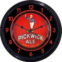 Pickwick Ale Beer Boston MA Tray Wall Clock Ale Lager Brew Man Cave New 10""