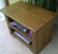 NEW SOLID WOOD CHUNKY RUSTIC PLANK PINE ENTERTAINMENT UNIT TV STAND AV CABINET