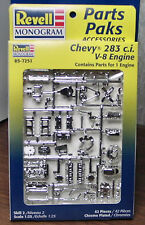 2 CHEVY 283 ENGINE & TRANNY KITS 1:25 REVELL 1998 NO LONGER MADE MINT CONDITION