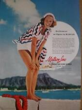 Matson Line cruises Hawaii and world advert 1941