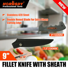 "9"" Horusdy Fishing Knife Fish Filleting Stainless Steel Diving Hunting Blade"