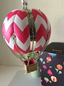 NWT Kate Spade Flights Of Fancy Balloon Hot Air Clutch Handbag 100% Authentic
