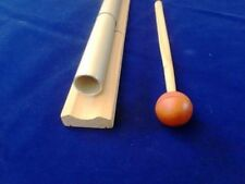 528 Hz Tuned Pipe on Wood Bar louder than Tuning Fork for healing sound therapy