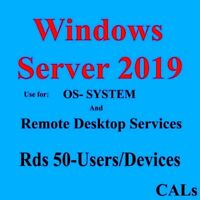 Code Remote RDS Cals 50 User Device and Os System for Win Server 2019 2016 2012