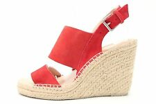 Womens DOLCE VITA stylish red suede ankle strap wedge sandals sz. 7.5 NEW!