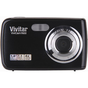 Vivitar V7022-BLACK Compact Digital 7.1MP Camera Black (VIVV7022BLK)