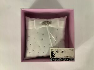 NWT 2010 Studio His and Hers Ring Pillow 168377 FREE SHIPPING