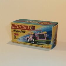 Matchbox Lesney Superfast  2 Jeep Hot Rod Empty Repro H Style Box