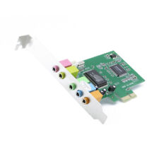 US PCI Express PCI-E 5.1 Ch 6 Channel PCIE Audio Digital Sound Card Adapter New