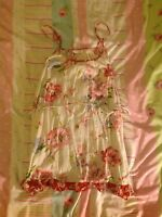 New Look Floral Cream Red Summer Dress 10 100% Cotton