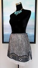 ROCHAS Paris Boucle Skirt Made in France Sz 40/S