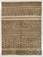 Contemporary Brown and Beige Moroccan Rug. CUSTOM OPTIONS Available
