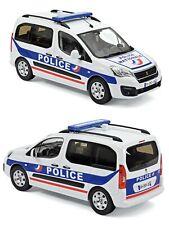 1/18 Norev Peugeot Partner 2017 Police Nationale Neuf En Boît livraison domicile