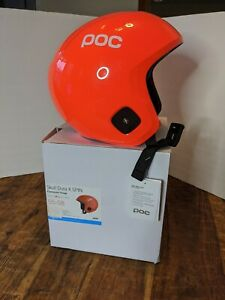 POC Skull Dura X SPIN Race Helmet fluorescent orange 55-58cm (M-L) New w/ tags