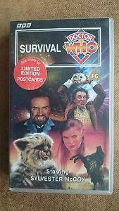 Doctor Who - Survival (VHS, 1995) - Includes Postcard - Sylvester McCoy