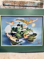 Disney's Peter Pan Exclusive Commemorative Framed Lithograph Photo Vintage Hook