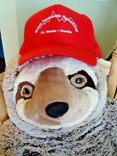 SAND MOUNTAIN SPEEDWAY FT MEADE FLORIDA RED BALL CAP HAT MESH ADJUSTABLE NEW