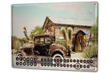Perpetual Calendar Garage Krakowski Oldtimer Tin Metal Magnetic