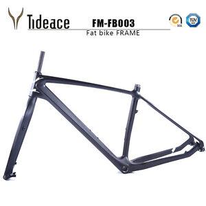 Toray T800 Carbon Aero Fat Bicycle Frames 26er Carbon Snow Bike Frameset Matte